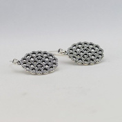 DIY fits European Pandora Jewellery 925 Sterling Silver Lace Silver Earrings with Cubic Zirconia