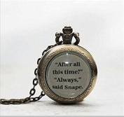 Book Page Pendant After All This Time, Always Watch Necklace , Pocket Watch Jewellery