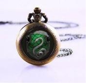 Salazar Slytherin Snake Necklace ,Salazar Slytherin Snake Pendant Necklace , Watch Necklace , Pocket Watch Jewellery ,