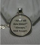 Book Page Pendant After All This Time, Always Necklace Character Necklace