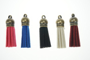 Bilipala 5PCS Mixed Leather Decorative Tassels DIY Charms Jewellery Bag Keychain Accessories