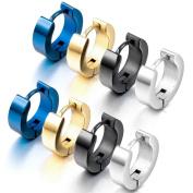 CrazyPiercing Stainless Steel Mens Womens Hoop Earrings Piercings Huggie Hypoallergenic