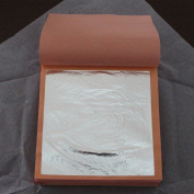 99.99% Genuine silver leaf /foil, real silver leaf/foil ,25pcs in one booklet,9.5X9.5cm,good quality.