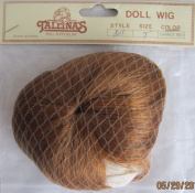 TALLINA'S Craft DOLL HAIR WIG Style 801 Fits SIZE 18cm Colour CARROT RED Synthetic HAIR