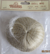 TALLINA'S Craft DOLL HAIR WIG Style 801 Fits SIZE 25cm Colour LIGHT BLONDE Hair