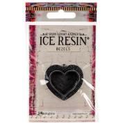Ice Resin Milan Bezels Closed Back Heart Medium-Antique Silver
