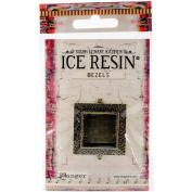 Ice Resin Milan Bezels Closed Back Square Medium-Antique Bronze