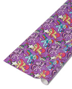 American Greetings Purple My Little Pony Wrapping Paper, 2.1sqm