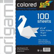 Folia Origami Paper 15cm -by-15cm White 100 Sheets