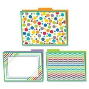 Carson-Dellosa Publishing CDP136003 Colour Me Bright Design File Folders Set, 6 Per Pack