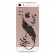 Wwwe® Iphone SE Case, Iphone 5 Case, Iphone 5S Case, Flying Feather Cover with a Phone Bracket and Anti-dust Plug