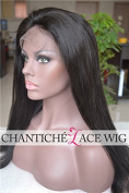 Chantiche® Best Natural Looking Silky Straight Full Lace Wig Brazilian Remy Human Hair Wigs 130% Density Medium Cap Size Medium Brown Lace 20cm #1