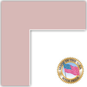 8x10 Soft Pink Custom Mat for Picture Frame with 4x6 opening size