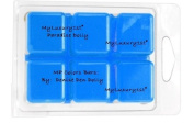 Matte Neon Turquoise Blue MyLuxury1st Melt and Pour Paradise Dolly Soap Colour Bars PACK of 6 by DENISE