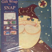 Gift Wrap in a Snap Santa Claus & Snowman- Includes 2 Gift Boxes and 2 Sheets of Gift Wrap