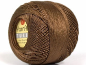 Brown Yarn Art Tulip Size 10 Microfiber Thread - 50 Gramme, 273 Yards