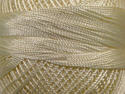Cream - Yarn Art Tulip Size 10 Microfiber Thread - 50 Gramme