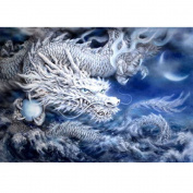 DIY Diamond Painting Animal 5d Diamond Cross Stitch Crystal Round Diamond Sets Diamond Embroidery China Flying Dragon 50x35cm