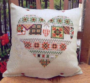 home in heart cushion case cross stitch kits 11ct DMC thread 40x40CM linen cushion case,cross stitch kits