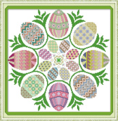 Good Value Cross Stitch Kits Beginners Kids Advanced-Easter Eggs 11 CT 50cm X 50cm , DIY Handmade Needlework Set Cross-Stitching Accurate Stamped Patterns Embroidery Home Decoration Frameless