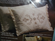 CANDLEWICK STAR PILLOW SHAMS Kit 0286
