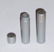 50 NEW Empty DARK SILVER Lip Balm Chapstick Tubes Containers .15 oz / 5 ml Tube Make Your Own Chapstick Lip Balm DIY At Home with Caps