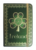 Shamrock Spiral Ireland Foil Notebook With A Green Celtic Design
