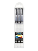 Molotow Premium Aqua Squeeze Pen Basic Set of 3 Empty Refillable Artist Brush Markers