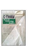 C-Thru Stencil Letter Guide 3.2cm Brush Font