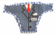 Silk Road Bazaar The CEO Nappy Cover, Blue/White