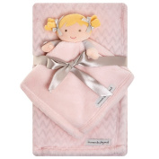 Blankets and Beyond Blanket with NuNu Gift Set, Pink and Grey