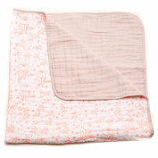 Little Unicorn Cotton Muslin Quilt Blanket - Garden Rose