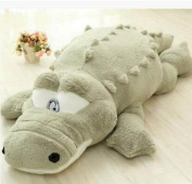 YunNasi Giant Big 100cm Baby Cuddly Fluffy Plush Alligator Stuffed Animal Toy Bright Green Colour