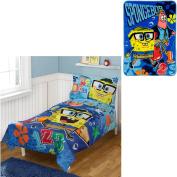 Nickelodeon SpongeBob 4 pc Toddler Bedding Set with Bonus Blanket