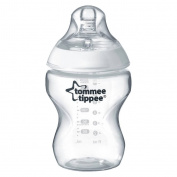 Tommee Tippee Closer To Nature 270ml Plastic Bottle - Clear