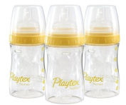 Lot of 4 Playtex 120ml Drop-ins System Nurser Baby Playtex Bottles Mom Solutions - Comes with 5 Drop-ins Liners.