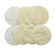 Eworld66 8pcs Reusable Bamboo Breastfeeding Pads - Super Absorbent Washable Nursing Pads