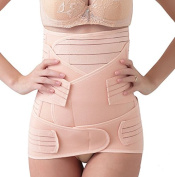 hook and loop Closure 3 in 1 Breathable Elastic Postpartum Postnatal Support Girdle Belt-Recover Belly Belt Sharper for Women and Maternit(Strip Style)