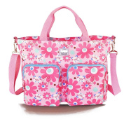 LCY Flowers Print Nappy Bag Pink