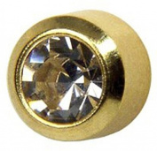 Studex System 75 ear piercing studs short post 2mm 24k gold ball 7581-0204-23