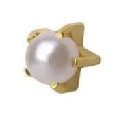 Studex System 75 ear piercing studs tiffany pearl 4mm 24k gold 7521-1301-23