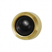Studex System 75 ear piercing studs black onyx 2mm 24k gold 7531-0307-23