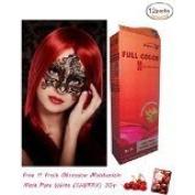 12 X Premium Permanent Hair Colour Cream Dye Light Blonde Red Reflect Punk Goth 8/5