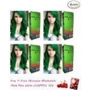 4 Packs of Premium Permanent Hair Colour Cream Dye Goth Cosplay Emo Punk 0/22 Green