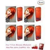 4 Packs of Premium Permanent Hair Colour Cream Dye Goth Cosplay Emo Punk 0/57 Bright Orange