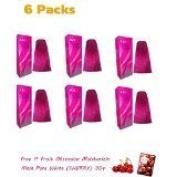 6 X New BerinaPermanent Hair Dye Colour Cream # A24 Magenta 1 Box Thailand