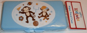 Blue Sports Monkeys Baby Wipes Case