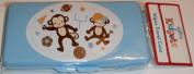 Blue Sports Monkeys Baby Wipes Case