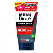 Men's Bioré Double Scrub Facial Foam Acne Solution 100g.