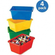 Tot Tutors - Primary Colours Small Storage Bins, Set of 4